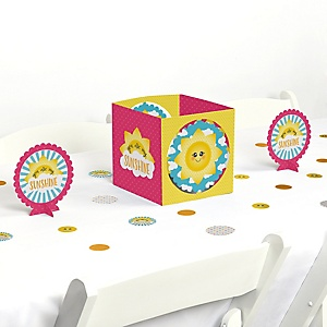 You Are My Sunshine - Baby Shower or Birthday Party Centerpiece and Table Decoration Kit