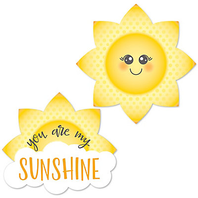 You Are My Sunshine   Shaped Baby Shower Or Birthday Party Paper Cut Outs    24 Ct