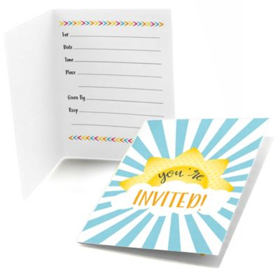 You Are My Sunshine   Baby Shower Or Birthday Party Fill In Invitations   8  Ct