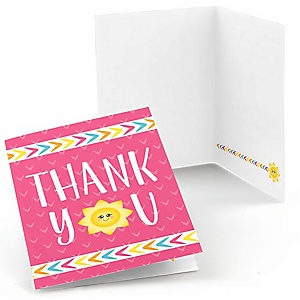You Are My Sunshine - Baby Shower or Birthday Party Thank You Cards - 8 ct