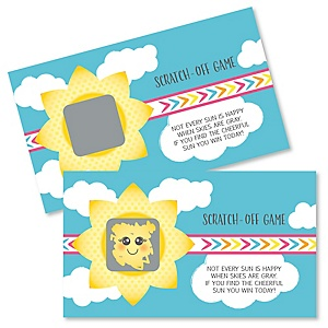 You Are My Sunshine - Baby Shower or Birthday Party Game Scratch Off Cards - 22 ct