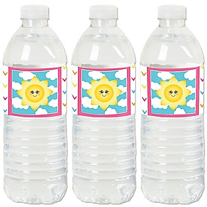 You Are My Sunshine - Baby Shower or Birthday Party Water Bottle Sticker Labels - Set of 20