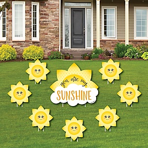 You Are My Sunshine - Yard Sign & Outdoor Lawn Decorations - Baby Shower or Birthday Party Yard Signs - Set of 8