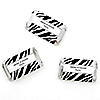 Zebra - Personalized Everyday Party Mini Candy Bar Wrapper Favors - 20 ct