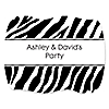 Zebra - Personalized Everyday Party Squiggle Stickers - 16 ct