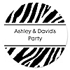 Zebra - Personalized Everyday Party Sticker Labels - 24 ct