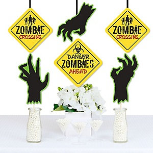 Zombie Zone - Apple Decorations DIY Halloween or Birthday Zombie Crawl Party Party Essentials - Set of 20