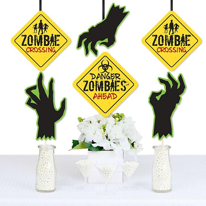 Zombie Zone - Apple Decorations DIY Halloween or Birthday Zombie Crawl Party Essentials - Set of 20