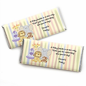Zoo Crew - Zoo Animals Personalized Baby Shower Candy Bar Wrapper Favors