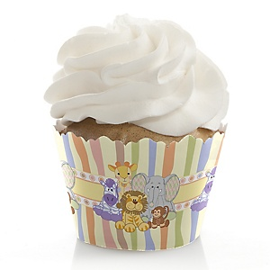 Zoo Crew - Baby Shower Decorations - Party Cupcake Wrappers - Set of 12