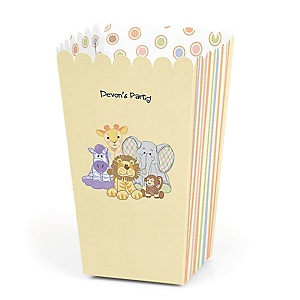 Zoo Crew - Personalized Party Popcorn Favor Treat Boxes - Set of 12