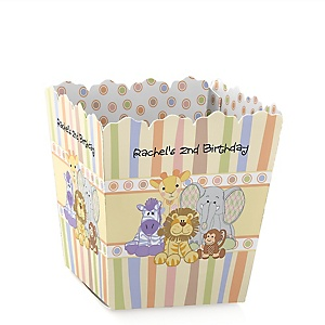 Zoo Crew - Zoo Animals - Party Mini Favor Boxes - Personalized Birthday Party Treat Candy Boxes - Set of 12