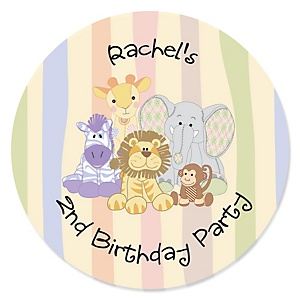 Zoo Crew - Zoo Animals Personalized Birthday Party Sticker Labels - 24 ct