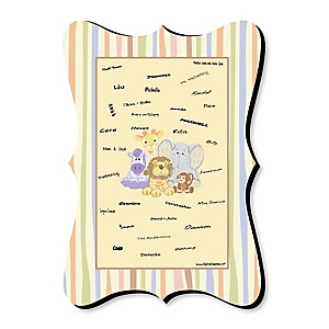 Zoo Crew - Unique Alternative Guest Book - Baby Shower or Birthday Party Signature Mat