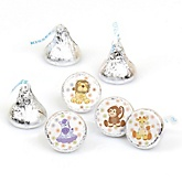 Zoo Crew - Round Candy Labels Party Favors - Fits Hershey's Kisses - 108 ct