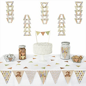 Zoo Crew -  Triangle Party Decoration Kit - 72 Piece
