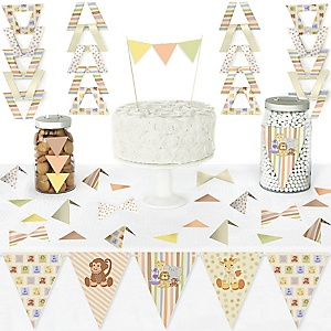 Zoo Crew - DIY Pennant Banner Decorations - Baby Shower or Birthday Party Triangle Kit - 99 Pieces